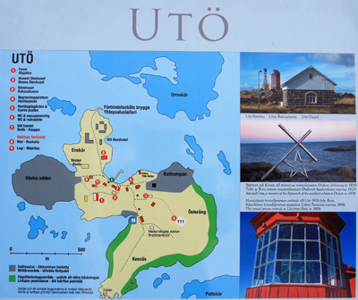 Jorma Tenovuo Birds Of Utö - Uto sweden map